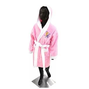 Детский халат La Villa БАБОЧКА хлопковая махра розовый 9-10 лет