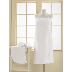 Набор для сауны женский Soft Cotton MASAL махра хлопок белый S/M