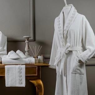 Подарочный набор с халатом Tivolyo Home ROSELLA хлопковая махра L/XL