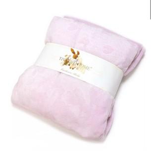 Плед детский для новорожденных Tivolyo Home HEARTS микрофибра розовый 80х90