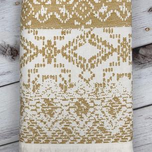 Пляжное полотенце, парео, палантин (пештемаль) Pupilla GRENETA хлопок горчичный 90х170