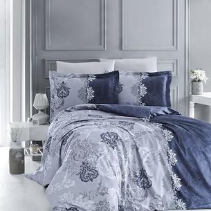 Постельное белье DO&CO LONA хлопковый сатин делюкс синий семейный