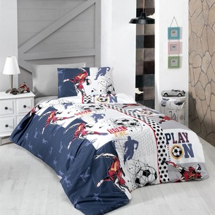 Детское постельное белье DO&CO FOOTBALL хлопковый ранфорс 1,5 спальный