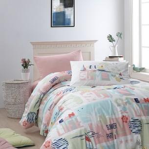 Детское постельное белье DO&CO SUMMER хлопковый ранфорс персиковый 1,5 спальный