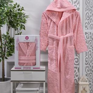 Халат женский Philippus KHANDELA хлопковая махра розовый 3XL