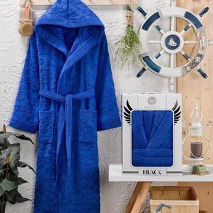 Халат мужской Philippus BERBERA хлопковая махра светло-синий 3XL