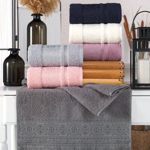 Набор полотенец для ванной 6 шт. Philippus PALMA хлопковая махра 70х140