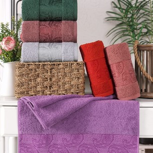 Набор полотенец для ванной 6 шт. Philippus SAL хлопковая махра 70х140