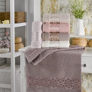 Набор полотенец для ванной 6 шт. Two Dolphins KUALA хлопковая махра 70х140