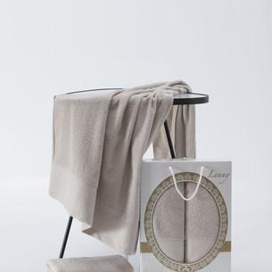 Подарочный набор полотенец для ванной 50х90, 70х140 Two Dolphins LENNY хлопковая махра молочный
