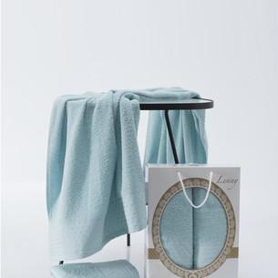 Подарочный набор полотенец для ванной 50х90, 70х140 Two Dolphins LENNY хлопковая махра бирбзовый