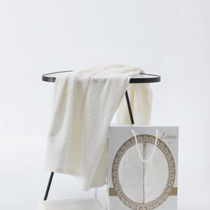 Подарочный набор полотенец для ванной 50х90, 70х140 Two Dolphins LENNY хлопковая махра кремовый