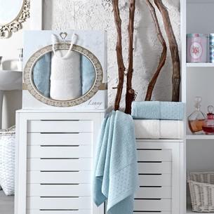 Подарочный набор полотенец для ванной 50х90(2), 70х140(1) Two Dolphins LENNY хлопковая махра бирюзовый