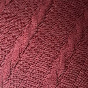 Вязаный плед-покрывало EFOR бордовый 200х220
