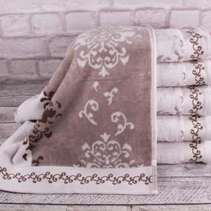 Набор полотенец для ванной 6 шт. Ozdilek EMILY хлопковая махра кофейный 50х90