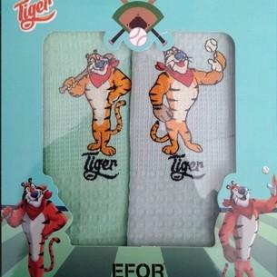 Подарочный набор кухонных полотенец 40х60(2) Efor LUX тигры хлопковая вафля V3