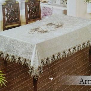 Скатерть прямоугольная Efor ARMINA велюр кремовый 160х220