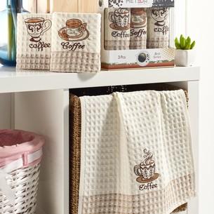 Подарочный набор полотенец для кухни 35х50(3) Meteor LUX BEST хлопковая вафля