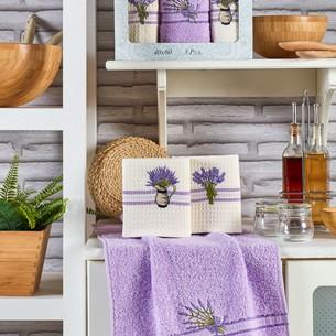 Подарочный набор полотенец для кухни 40х60(3) Meteor MIMOZA хлопок лаванда