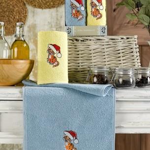 Подарочный набор полотенец для кухни 30х50(2) Meteor KAHVE хлопковая махра V1