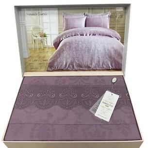 Постельное белье Maison Dor MIRABELLE DANTEL хлопковый сатин-жаккард фиолетовый евро
