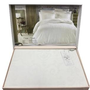 Постельное белье Maison Dor MIRABELLE хлопковый сатин-жаккард кремовый семейный
