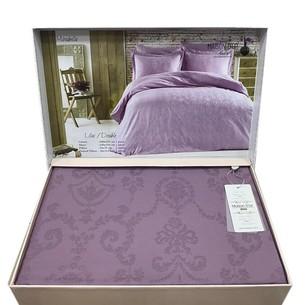 Постельное белье Maison Dor MIRABELLE хлопковый сатин-жаккард фиолетовый семейный