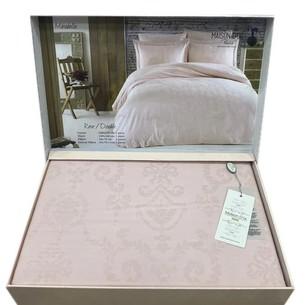Постельное белье Maison Dor MIRABELLE хлопковый сатин-жаккард грязно-розовый семейный