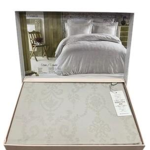 Постельное белье Maison Dor MIRABELLE хлопковый сатин-жаккард серый семейный
