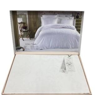 Постельное белье Maison Dor MIRABELLE хлопковый сатин-жаккард белый семейный