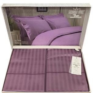 Постельное белье Maison Dor NEW RAILS хлопковый сатин-жаккард фиолетовый семейный