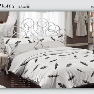 Постельное белье Maison Dor PLUMES хлопковый сатин серый семейный