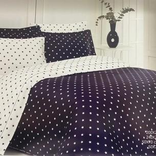 Постельное белье Maison Dor STARS хлопковый сатин антрацит 1,5 спальный