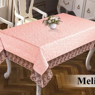 Скатерть прямоугольная Efor MELISA жаккард пудровый 160х220