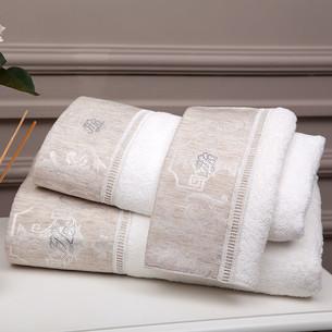 Подарочный набор полотенец-салфеток 30х50 см (2 шт.) Tivolyo Home EMPERIUM хлопковая махра