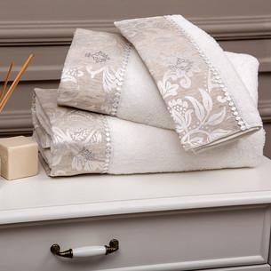 Подарочный набор полотенец-салфеток 30х50 см (2 шт.) Tivolyo Home FORTUNY хлопковая махра