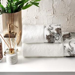 Подарочный набор полотенец-салфеток 30х50 см (2 шт.) Tivolyo Home SALOME хлопковая махра