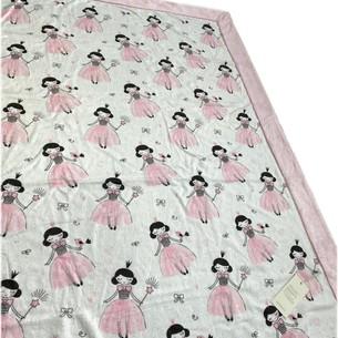 Плед детский для новорожденных Maison Dor PINKIE PRINCESS хлопок розовый 75х100
