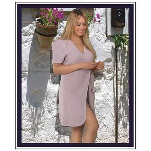 Халат женский Maison Dor ADELYNN хлопковая махра фиолетовый L