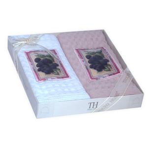 Подарочный набор кухонных полотенец 50х70(2) Tivolyo home DUTLAR хлопковая вафля