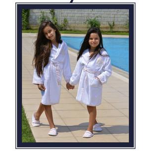 Халат детский для девочки Maison Dor ALPHA хлопковая махра 10 лет